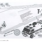 Ant Farm, dessin Media Van, 1971, source. Lewallen & al 2004