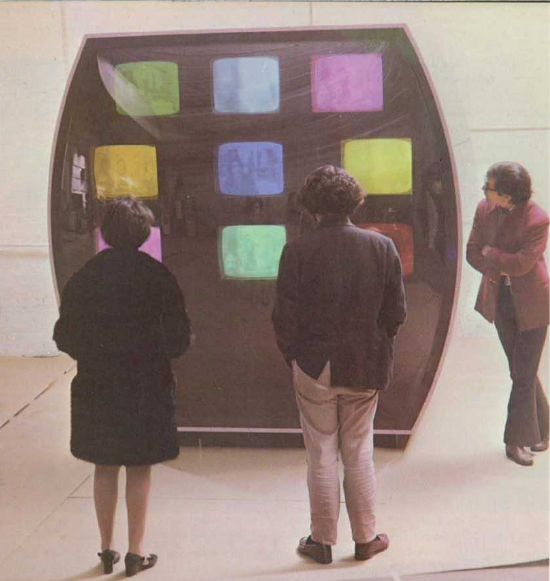 Les Levine, Contact (1969), installation multimédia, source: Margolies (1969)