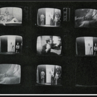 Frank Gillette & Ira Schneider, Wipe Cycle, 1969, installation multimédia, Howard Wise Gallery, exposition: TV as a Creative Medium