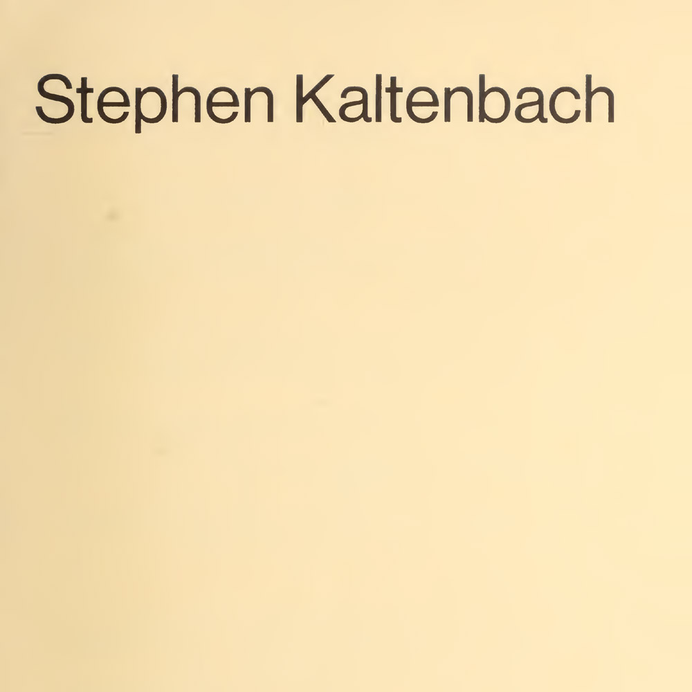 Stephen Kaltenback,Catalogue de Room Manipulation, Whitney Museum (1968)
